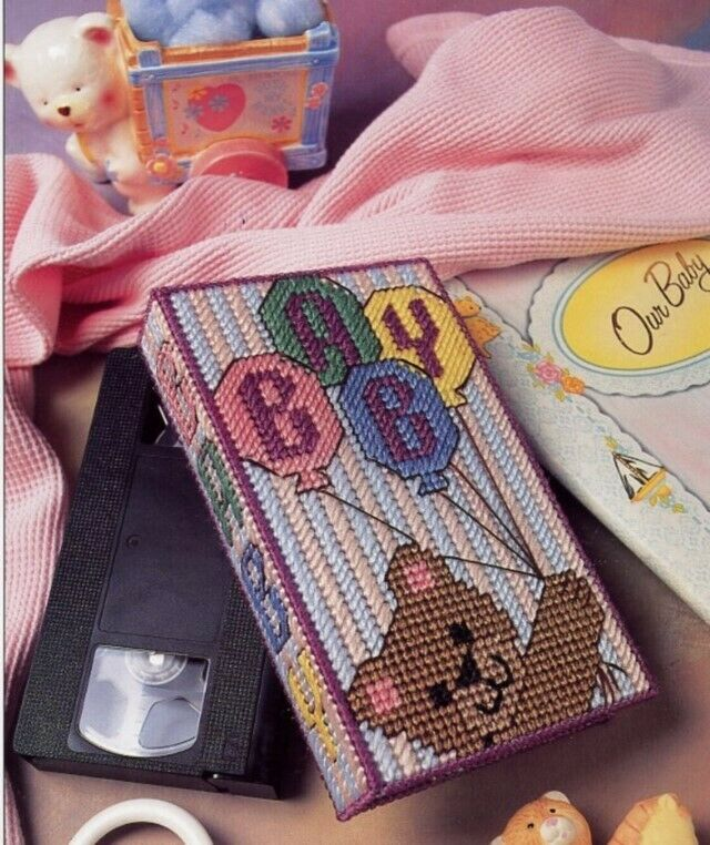 Baby Video Box Annie S New Plastic Canvas Pattern 3 Flat