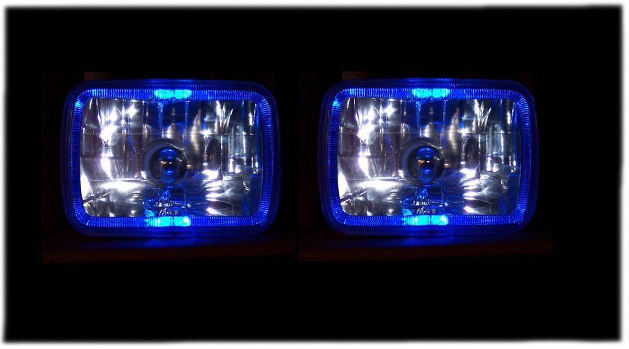 83 93 Chevy S10 Pickup Blue Halo Xenon Euro Headlights Ebay