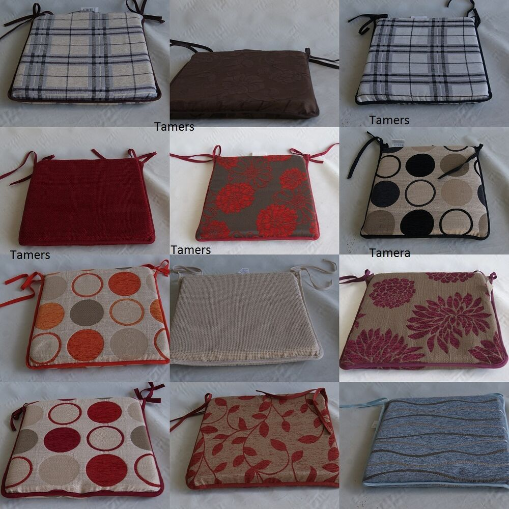 Premium quality modern dining room chair seat pads ebay for Dining room chair cushions