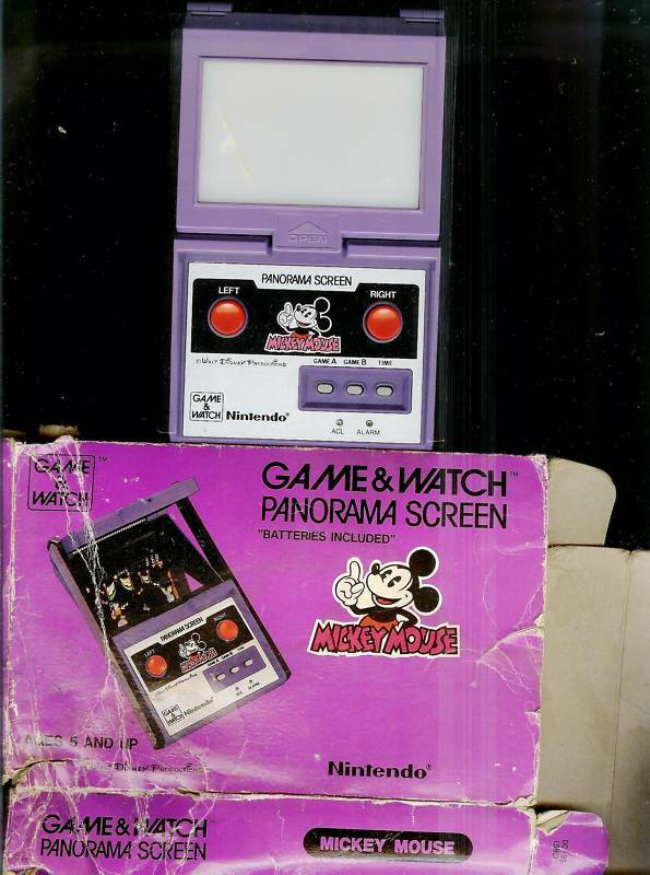 Free Nintendo Games >> 1984 MICKEY MOUSE PANORAMA NINTENDO GAME & WATCH + BOX VINTAGE DISNEY TOY 1980s | eBay
