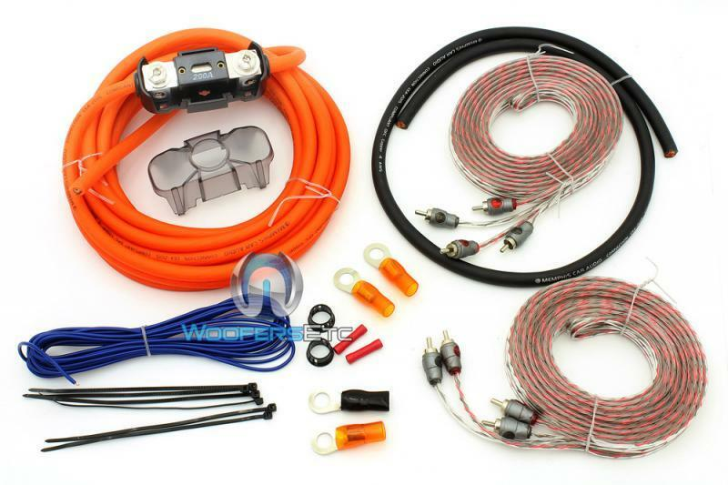 Cable Installation Kit : Gkit memphis gauge amp wire w rca cord jacks