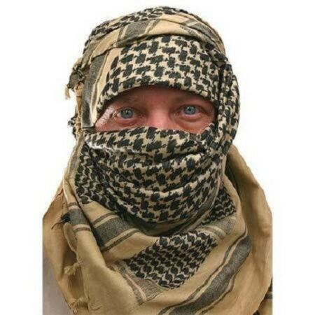 img-SAS & SF ARMY DESERT TAN SAND ARAB SHEMAGH SCARF Hike Camp Survival 100% Cotton