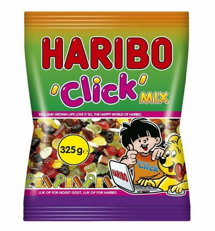 haribo click mix 325g weingummi lakritz dragee ebay. Black Bedroom Furniture Sets. Home Design Ideas