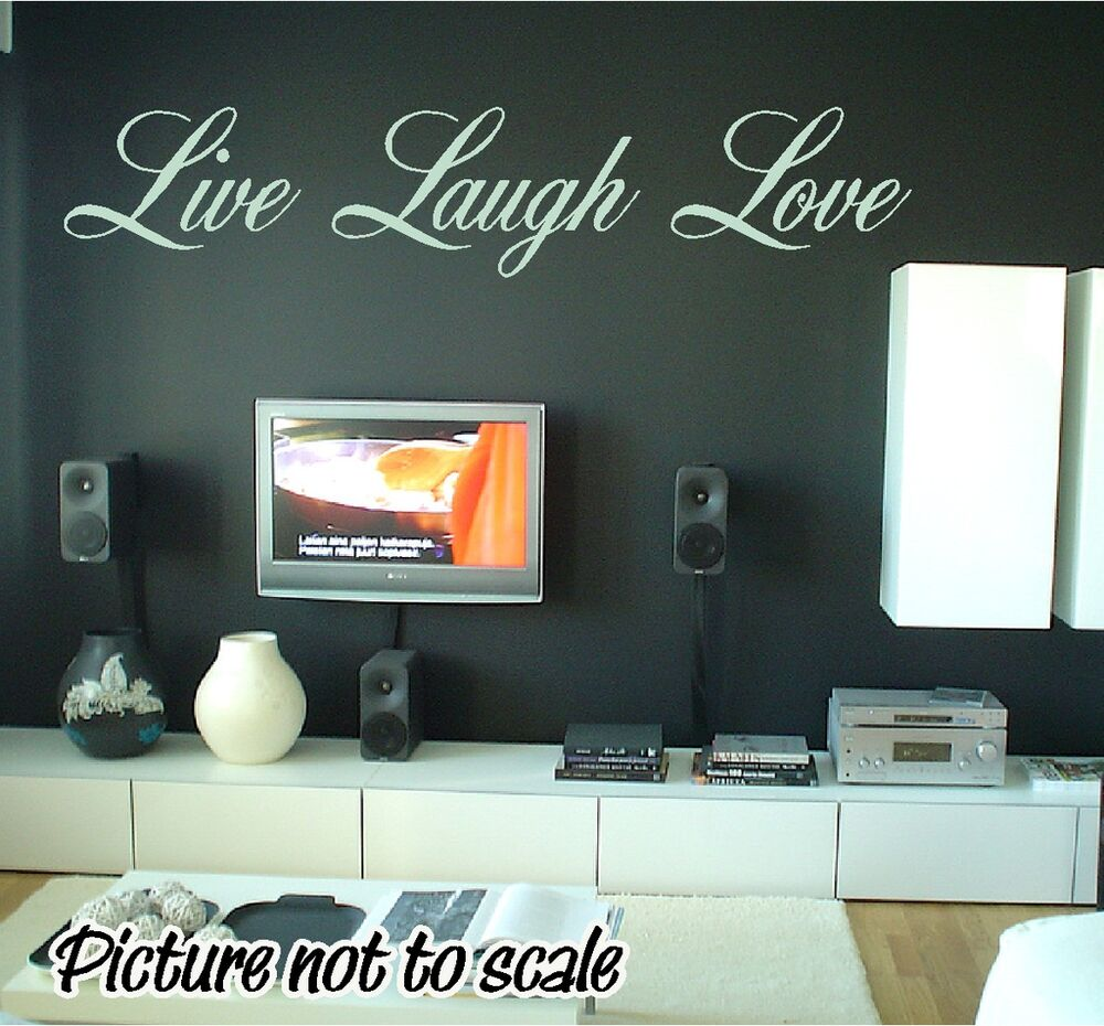 Custom live laugh love wall decal any color home decor ebay for Personalized home decor