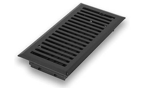 Steel flat black contemporary floor register 2 x10 ebay for 10 x 14 floor register