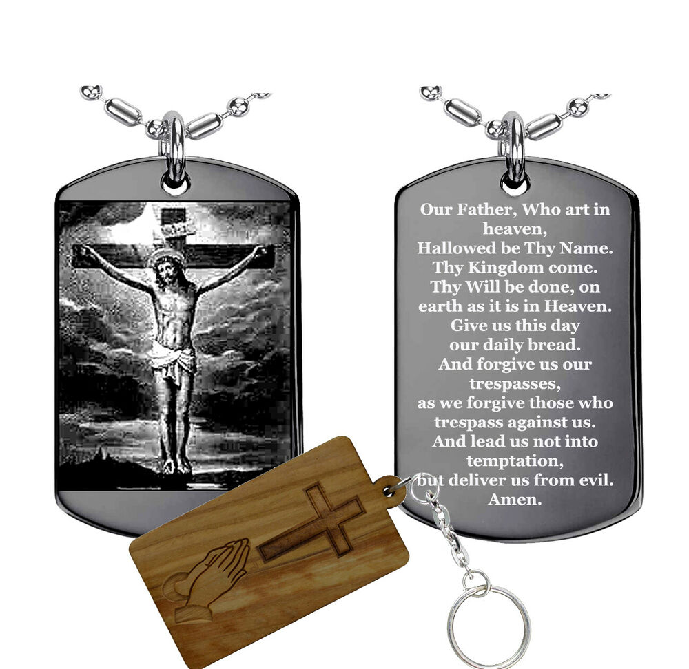 Lord S Prayer Dog Tag Necklace