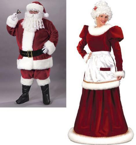 Santa suit and mrs claus gown couples costumes ebay