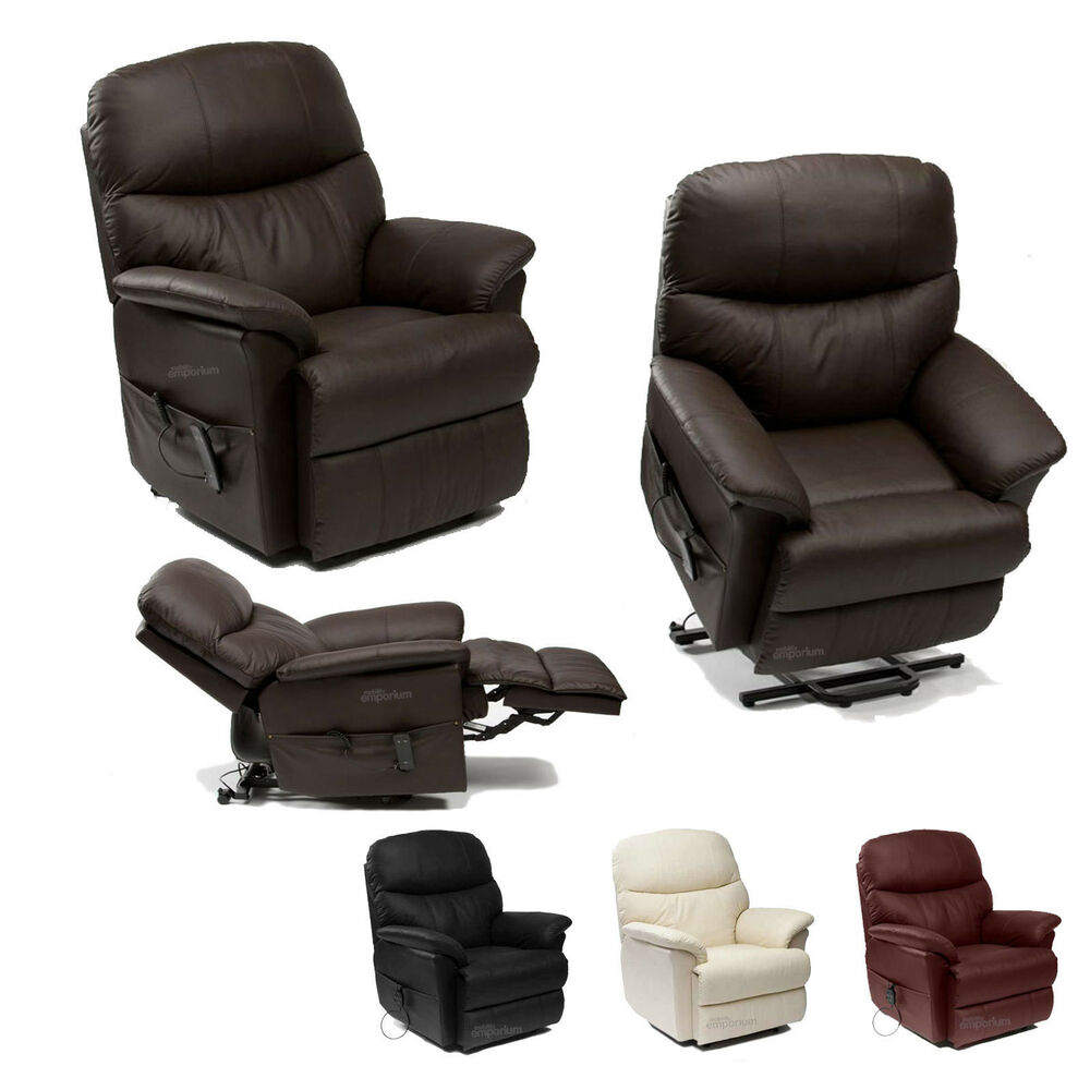 Lars Leather Rise Riser And Recliner Armchair Tilt And