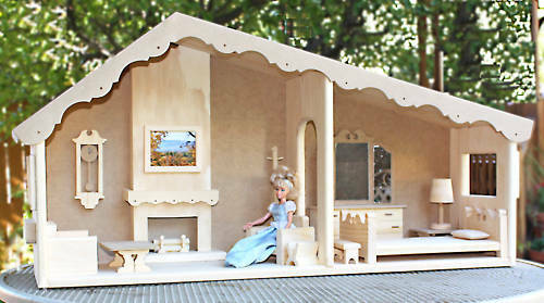 build a barbie doll house and furniture from wood plans ebay. Black Bedroom Furniture Sets. Home Design Ideas