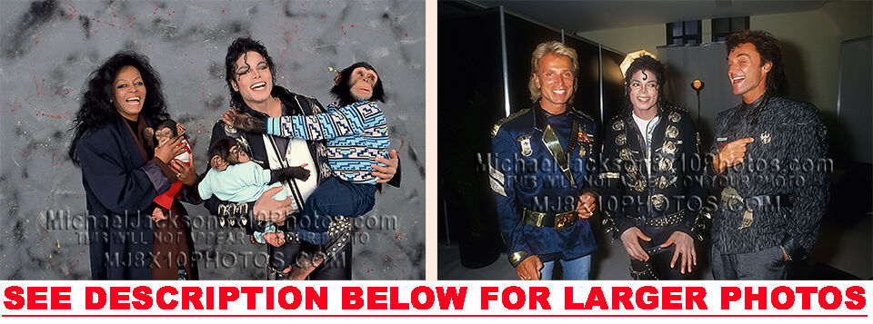 michael jackson bad tour backstage 2 rare 8x10 photos ebay