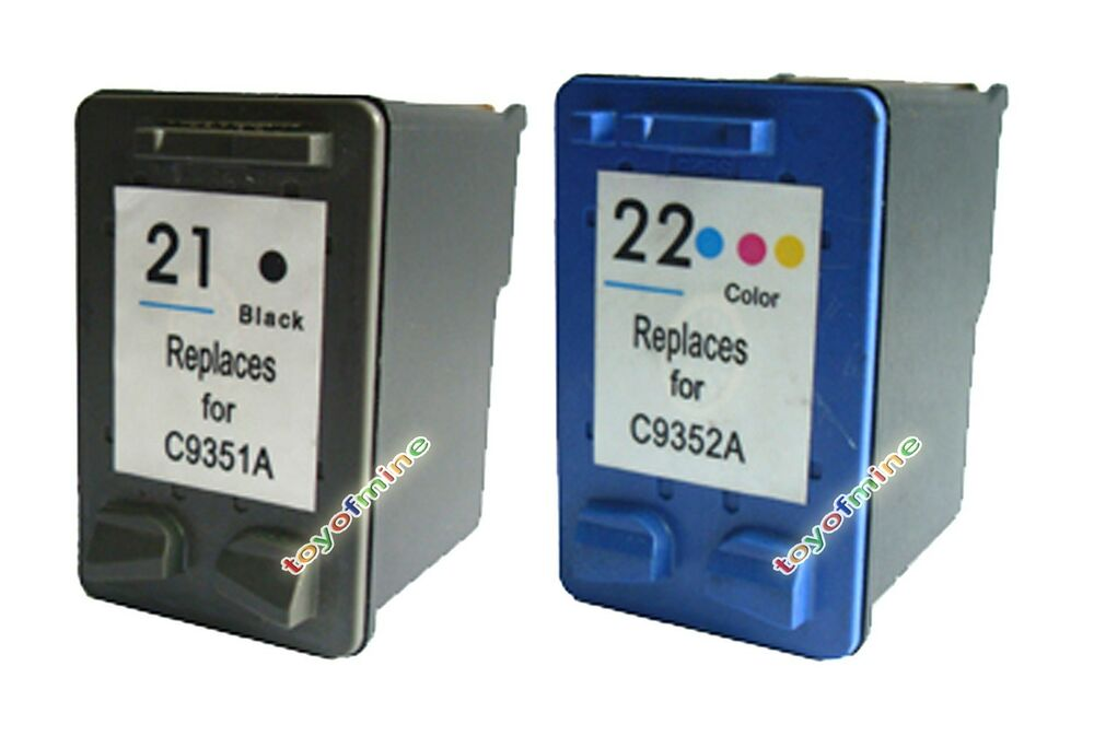 2 ink cartridge for hp 21 22 deskjet f300 f310 printer ebay. Black Bedroom Furniture Sets. Home Design Ideas