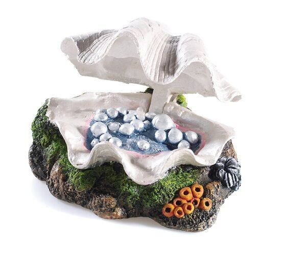 oyster shell decor classic 0950 closing clam shell ornament air aquarium fish 1360
