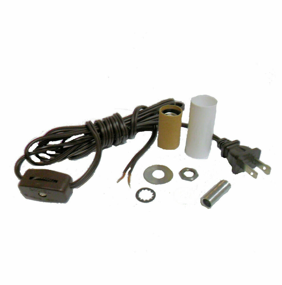 Mini Lamp Kit Candle Skt Brown Cord Cord W Line Switch Td