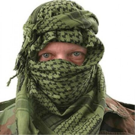 img-BRITISH ARMY SAS SF OG OLIVE GREEN ARAB SHEMAGH SCARF 100% COTTON MILITARY CADET