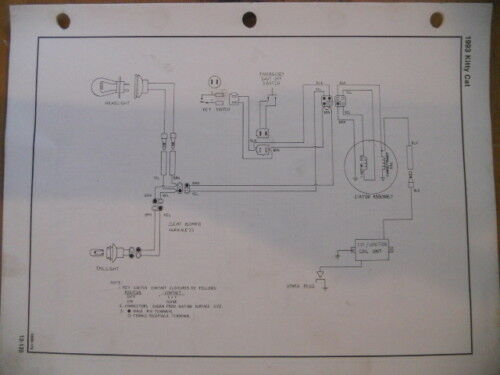 Artic Cat Main Harness Wiring Diagram 1993 Kitty Lynx