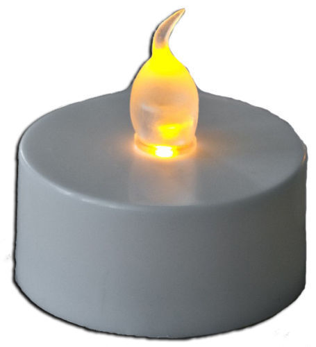 48 X Flickering Led Tea Lights Battery Operated Candles Ebay