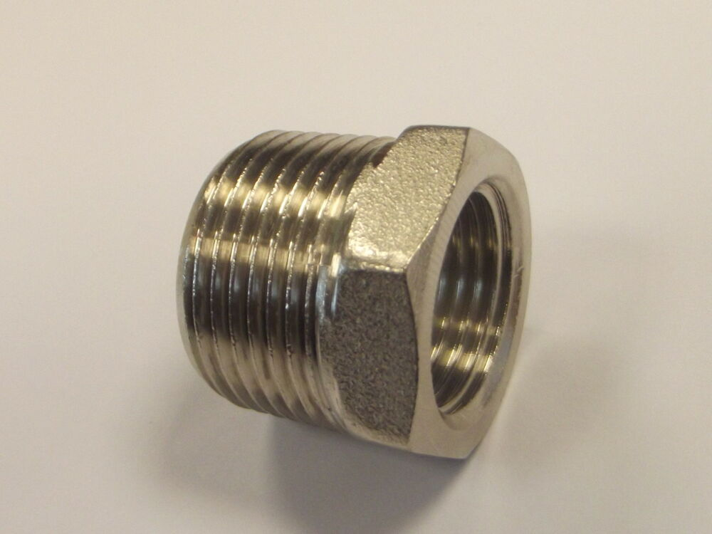 Quot bsp male to female nickel plated reducing bush