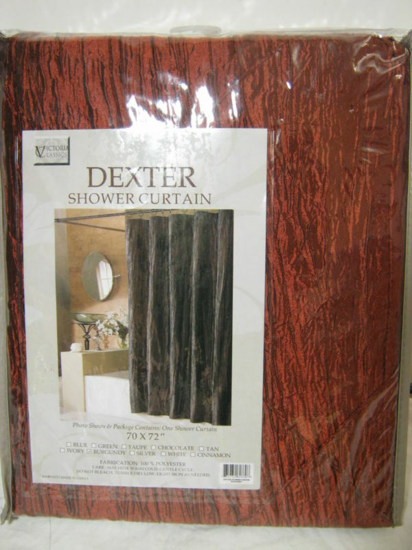 New Victoria Classics Fabric Shower Curtain Dexter Burgundy New | eBay