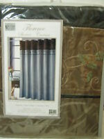 New VICTORIA CLASSICS FLORENCE Embroidery SHOWER CURTAIN 72x7 ~TAUPE BLACK