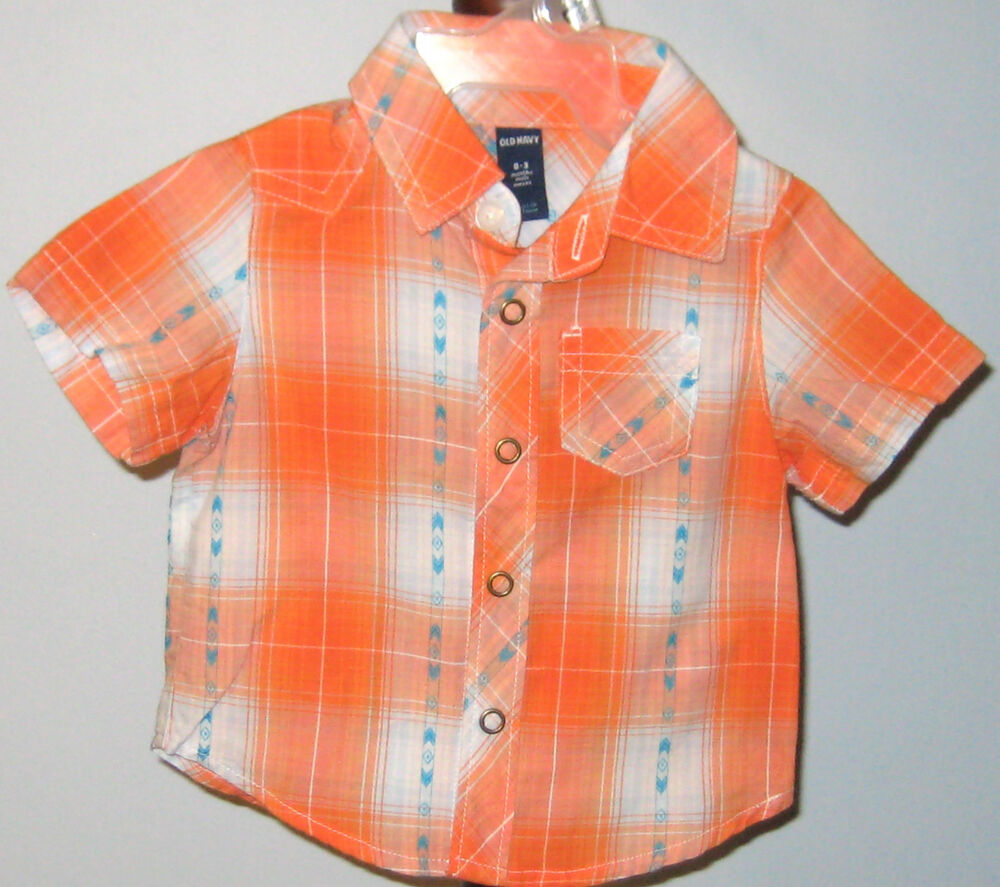 New Old Navy Boys Newborn to Toddler Short Sleeve Shirts
