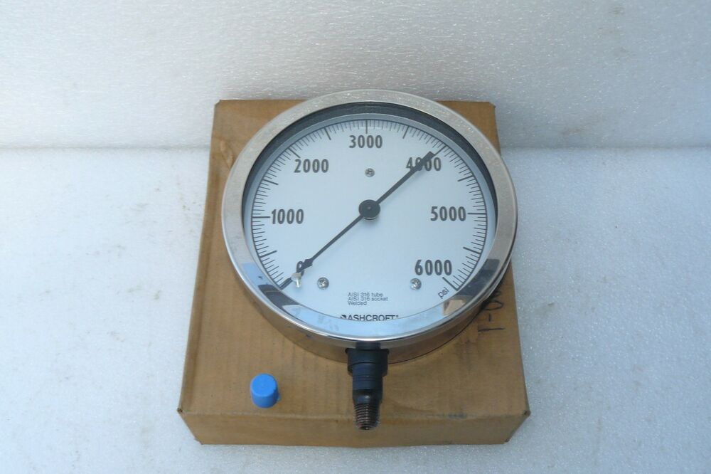 what gauge stainless steel is best for kitchen sinks new ashcroft 316 stainless steel press 0 6000 psi ebay 9958