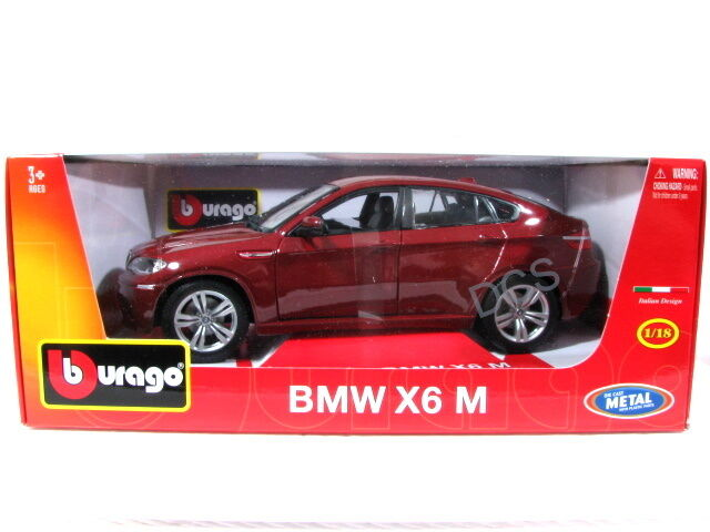 Bburago Bmw X6 M X6m Red 1 18 Diecast Model Car Ebay