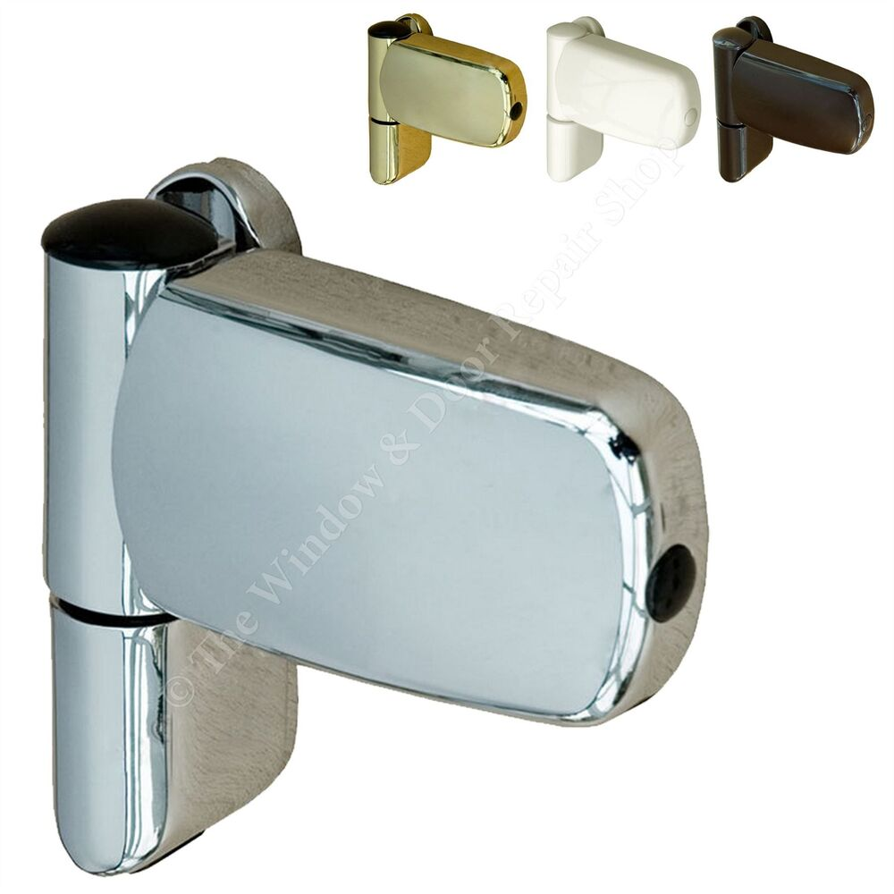 Upvc double glazing door flag hinge adjustable avocet et3d triad ebay for Adjustable hinges for exterior doors