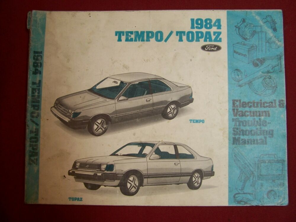 1984 ford tempo mercury topaz electrical diagnosis vacuum wiring diagrams manual ebay