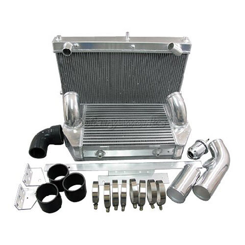 Twin Turbo Kit Rx7: Intercooler Radiator 26x17x6.5 V-Mount Kit For 92-02 RX7