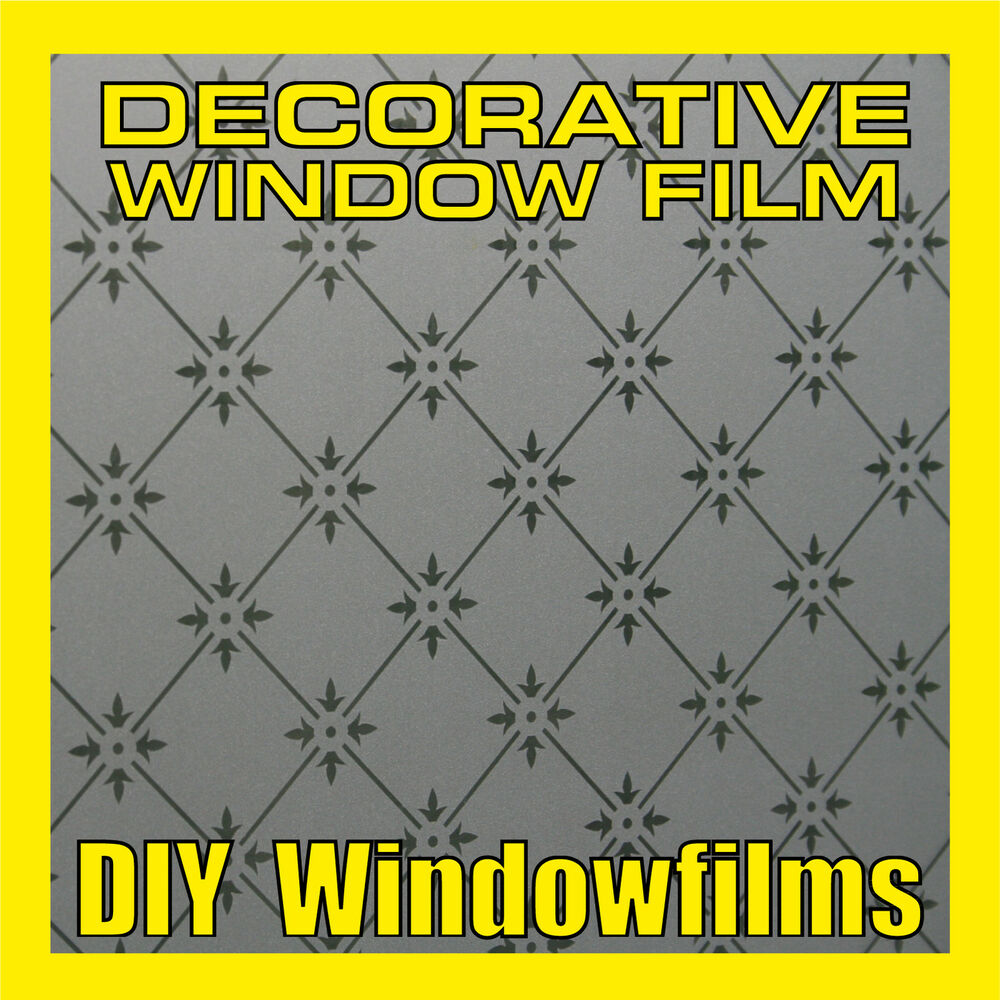 DECORATIVE FROSTED PRIVACY WINDOW FILM