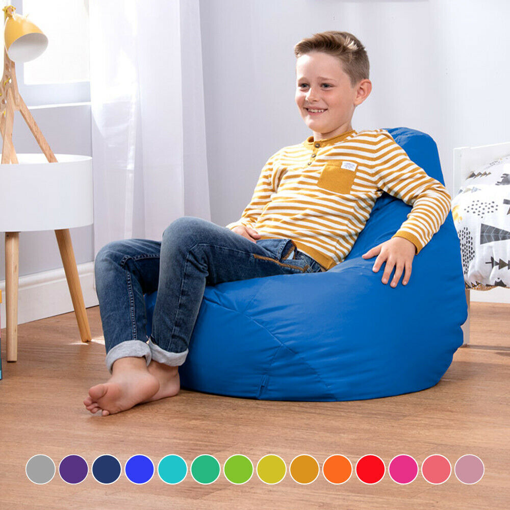 childrens tall gaming indoor outdoor bean bags beanbag kids high back ebay. Black Bedroom Furniture Sets. Home Design Ideas