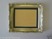 Shabby Chic Silver Ornate 24x20 Picture Frame With Black Mount