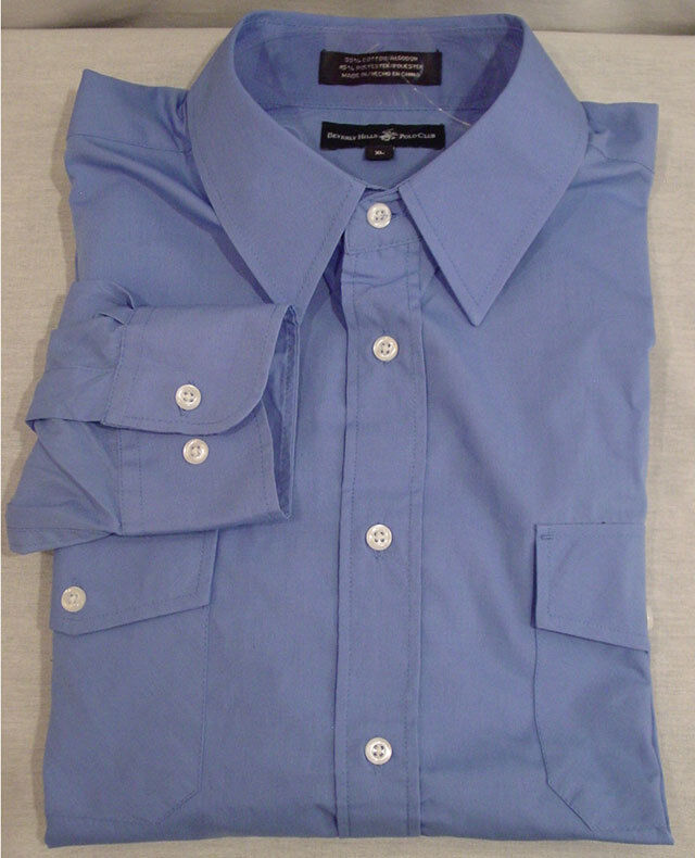 Beverly Hills Polo Club Mens Dress Shirt Sz Xl New Ebay