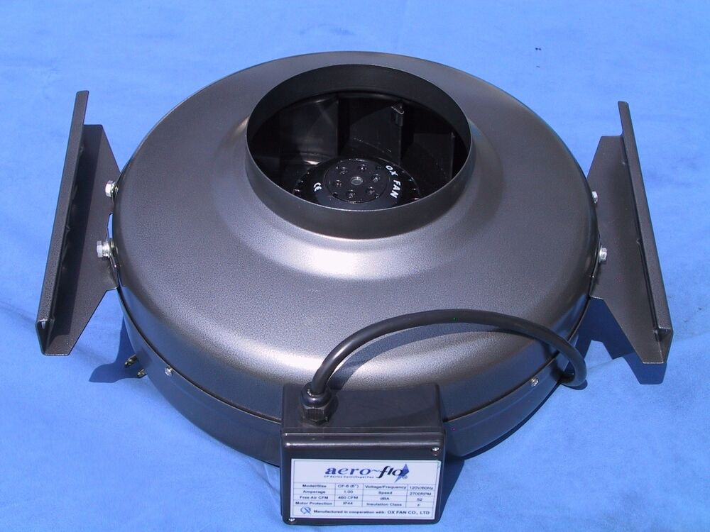 Inline Duct Vents : Inch hydroponic cfm inline exhaust vent fan blower ebay