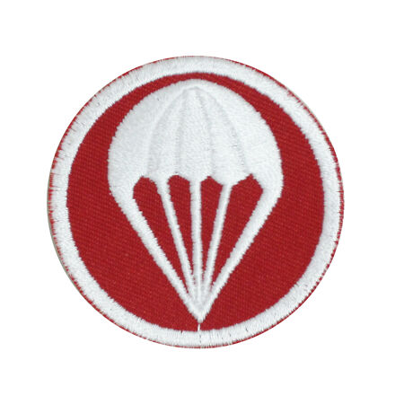 img-WW2 US Artillery Paratroopers Garrison Cap Badge - Red - Repro Patch Uniform New