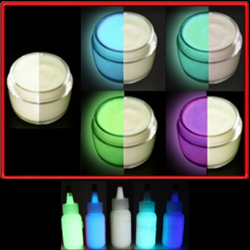 Glow in the dark 5 color paint set ebay - Glow in the dark paint colors ...