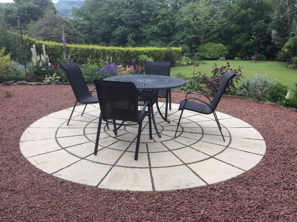 3.46M (11FT4) ROTUNDA CIRCLE PATIO PAVING SLAB FREE DELIVERY NOTE  EXCEPTIONS (2 - Circle Patio Slabs EBay
