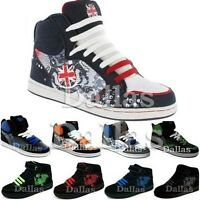 BOYS HI TOPS TRAINERS KIDS HIGH ANKLE SKATE SCHOOL BASKETBALL BOOTS SHOES SIZE