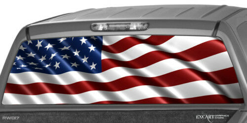 American Flag Rear Window Graphic Decal Tint Truck Suv