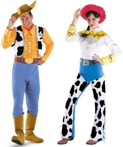 woody jessie couples adult costumes disney toy story ebay. Black Bedroom Furniture Sets. Home Design Ideas