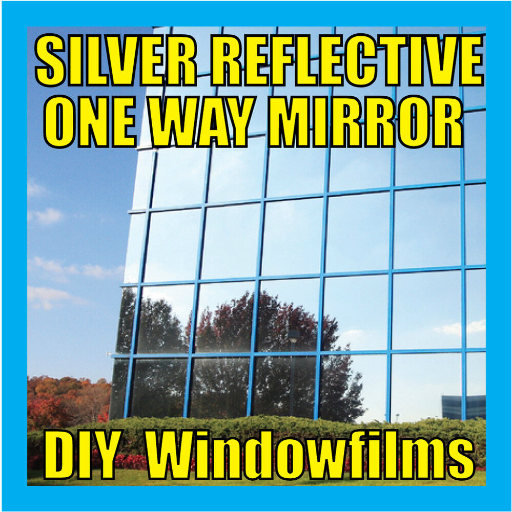 silver solar reflective one way mirror window film 30cm ebay. Black Bedroom Furniture Sets. Home Design Ideas