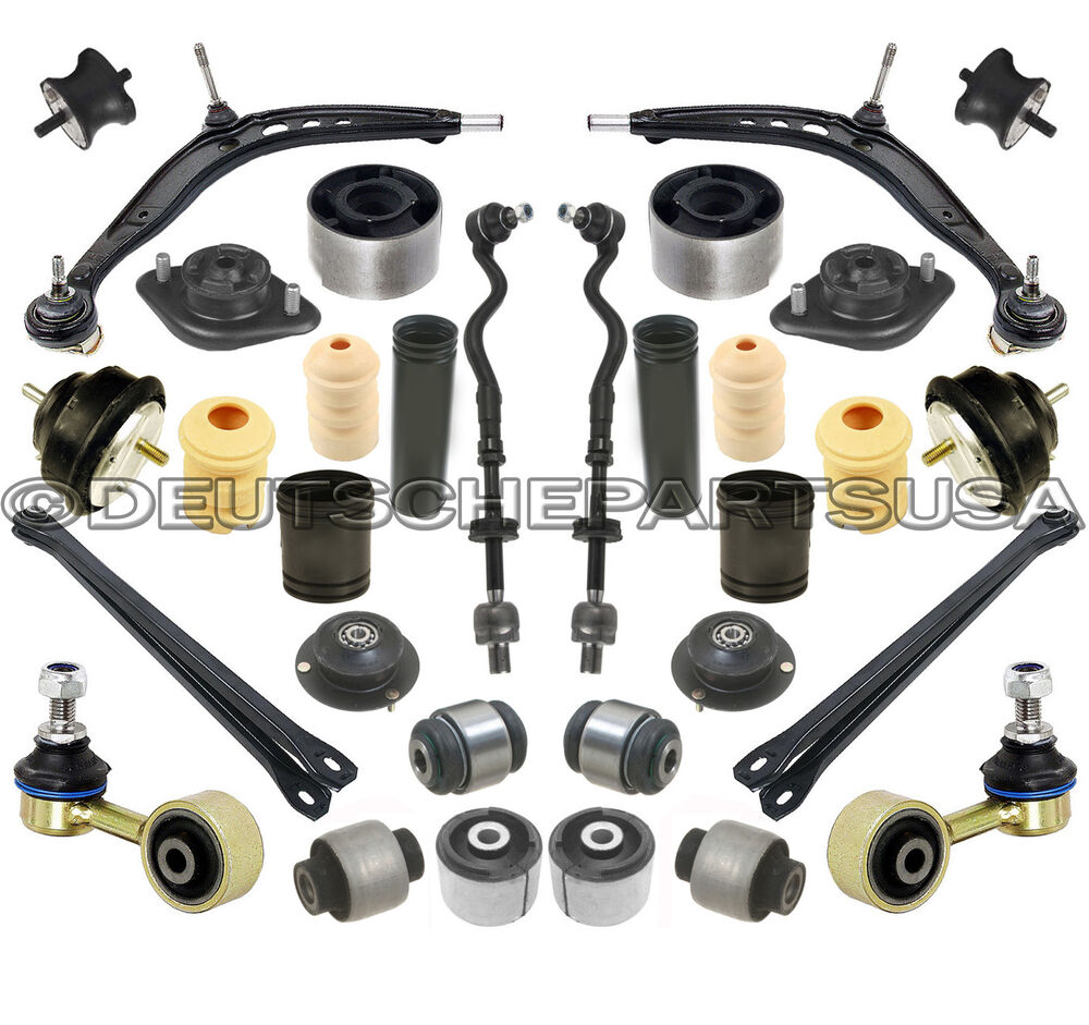Front Rear Control Arm Tie Rod Bushings Suspension Kit 32