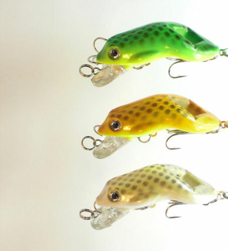 3 x topwater frogs fishing crankbait lures 002 ebay for Frogs for fishing