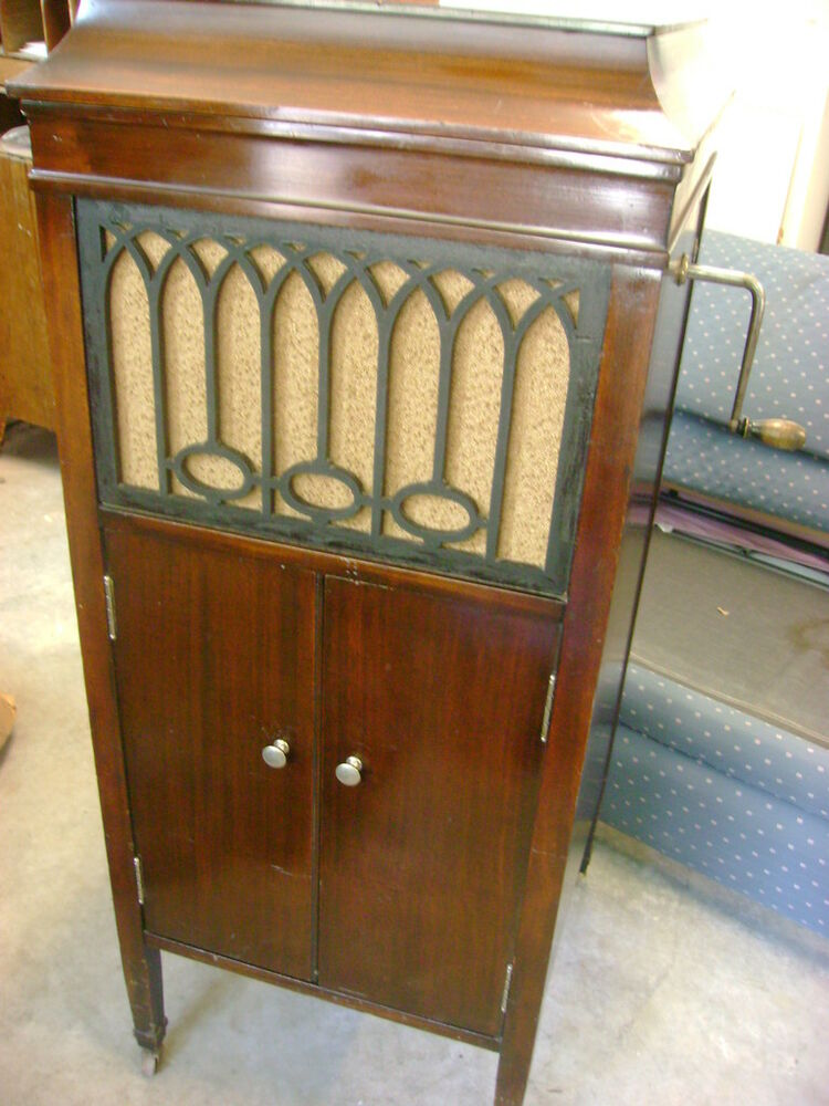 vintage record player cabinet antique brunswick crank phonograph floor model 207 ebay 27998