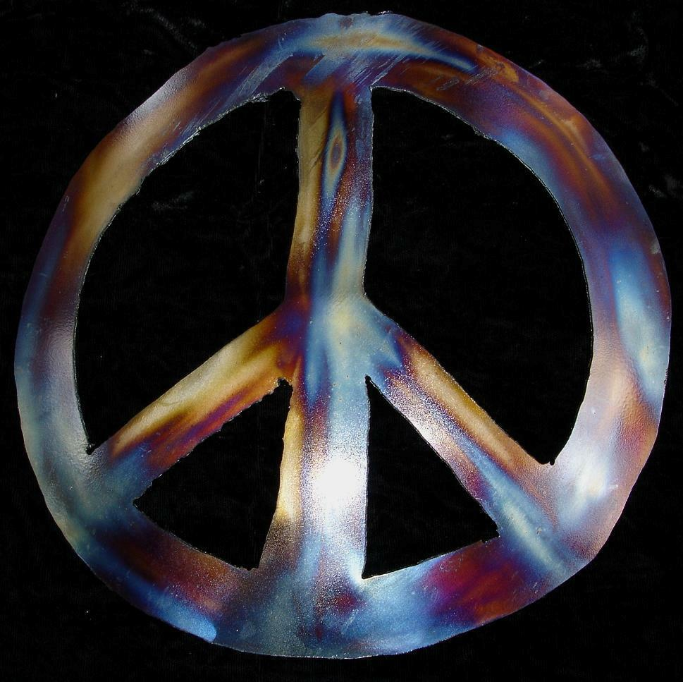 Peace Sign Symbol Hippie Metal Wall Accent Art Decor Ebay