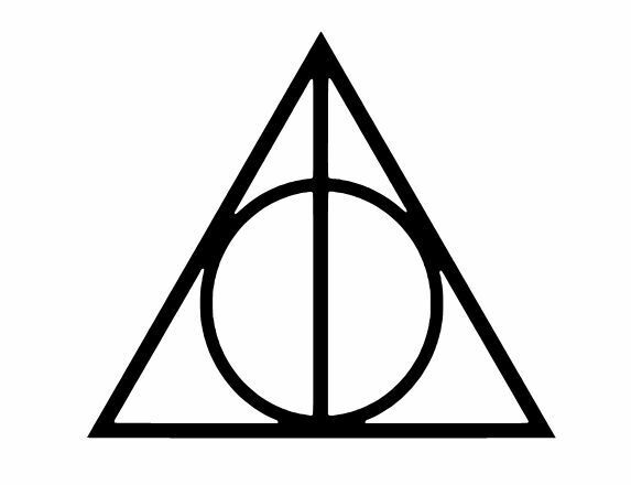 DEATHLY HALLOWS HARRY POTTER DECAL CHOOSE SIZE/COLOR | eBay