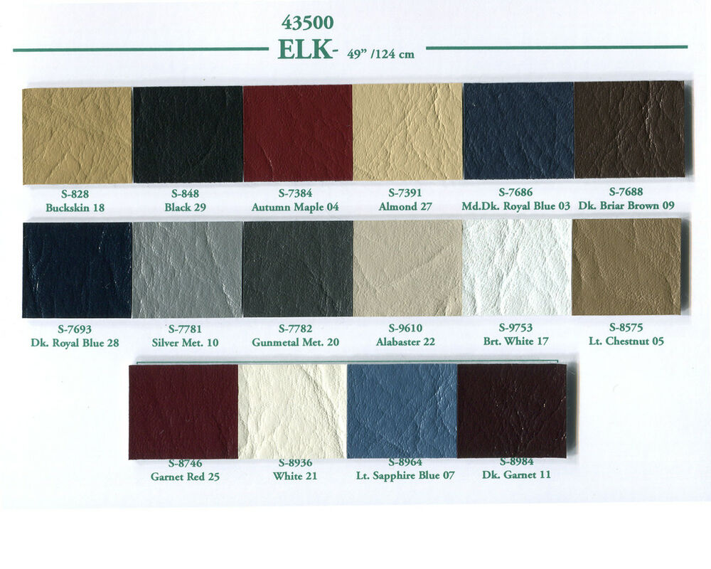 Elk Roof Cover Vinyl Material 16 Different Colors Ebay