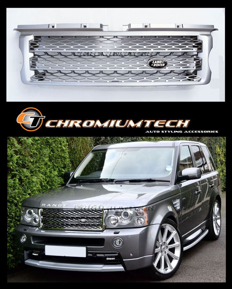 05-09 Range Rover SPORT L320 SILVER Grille NEW 2010 Look W