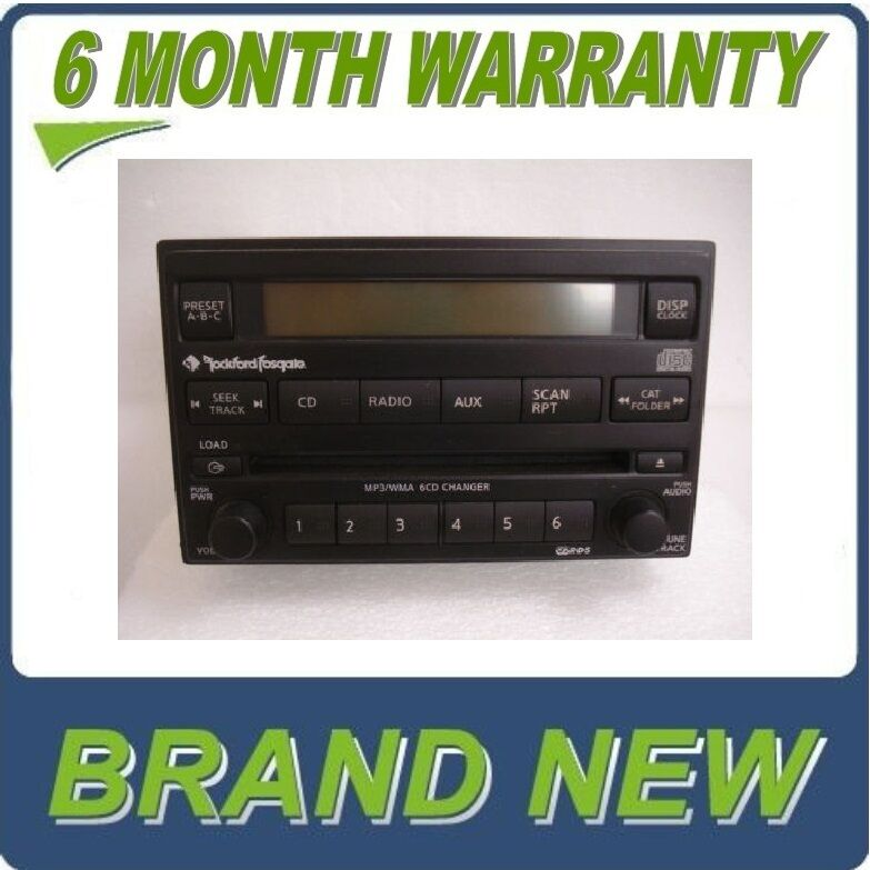 Nissan Frontier Xterra Radio 6 Cd Mp3 Changer Rockford