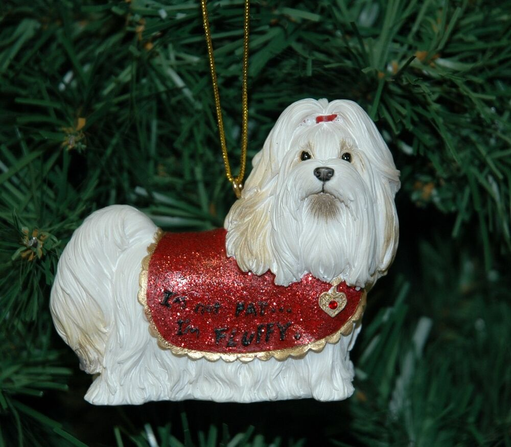 Glass Dog Christmas Ornaments